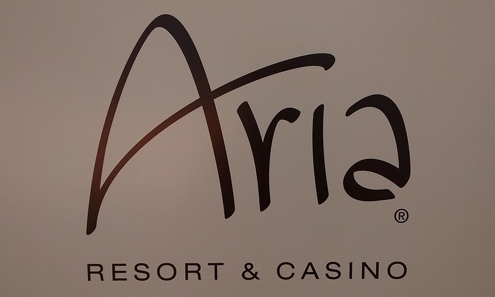 Vacation fonts: Aria hotel logo