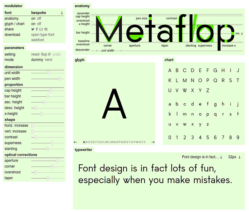 Metaflop: Main Dashboard