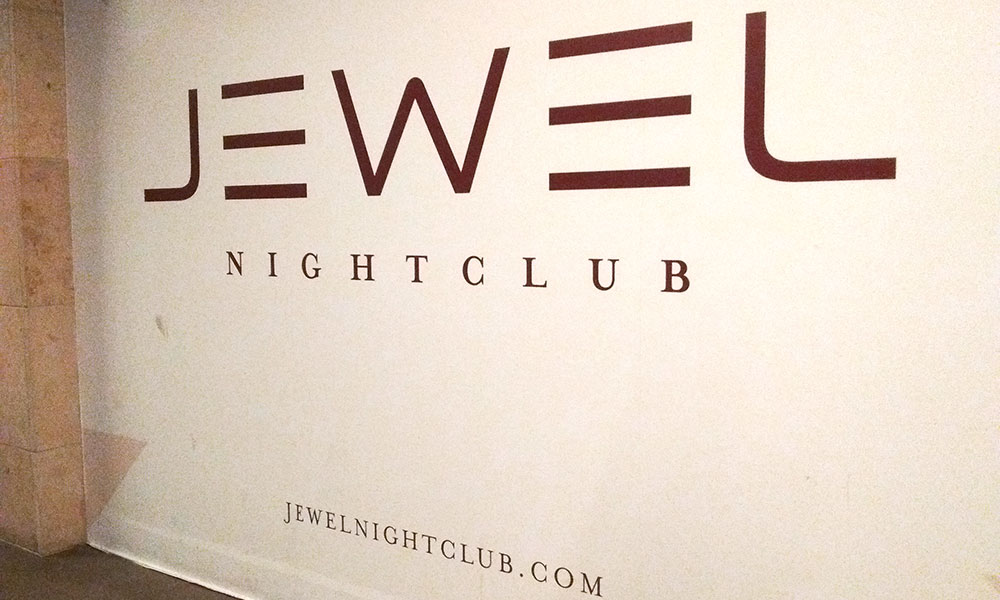 Vacation fonts: Jewel nightclub at Aria