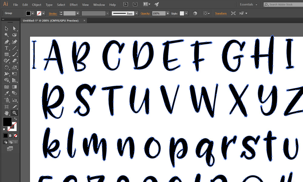 My process: converting to vector in Illustrator