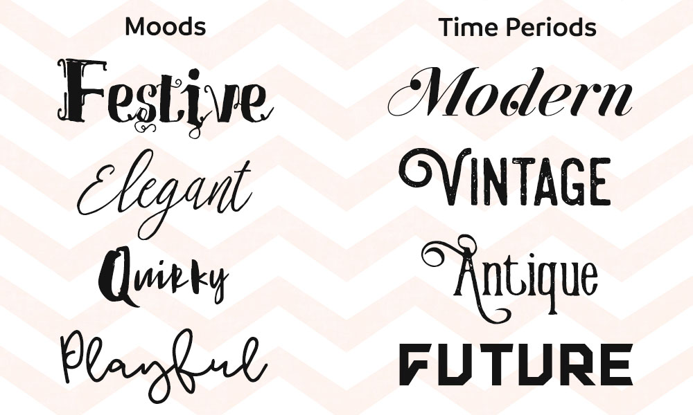 Font Pairing: Moods and Time Periods