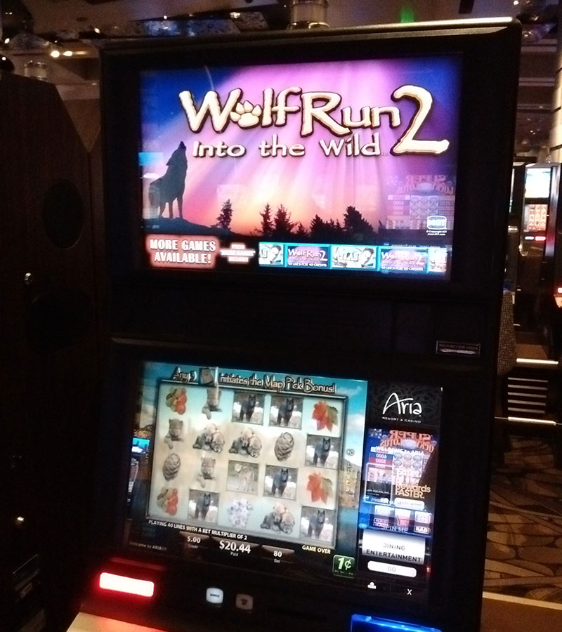 Vacation fonts: a slot machine with Papyrus
