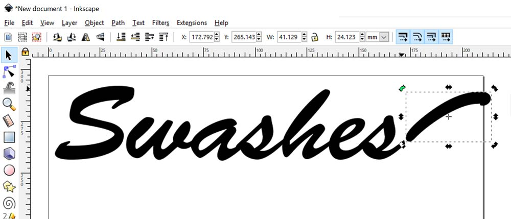 Swashes: rotated and in place