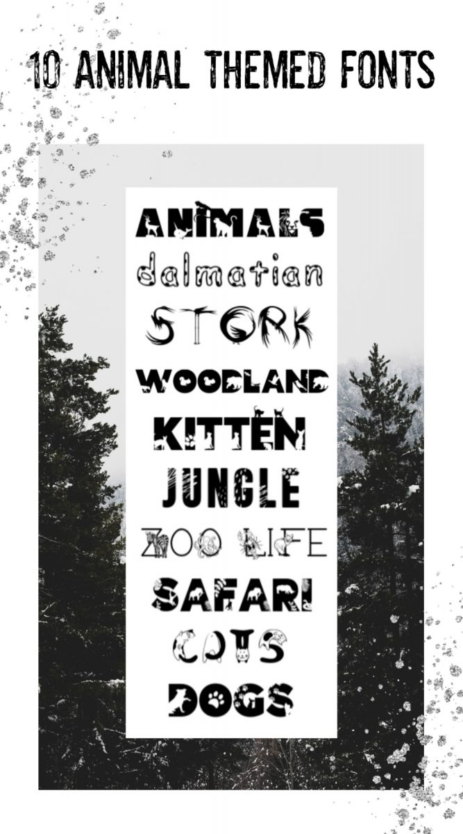 10 Animal Themed Display Fonts perfect for Children's Parties and Projects