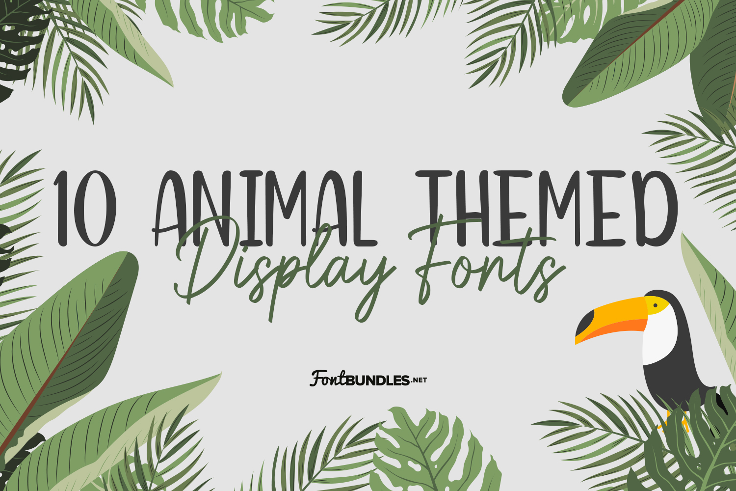 10 Animal Themed Display Fonts
