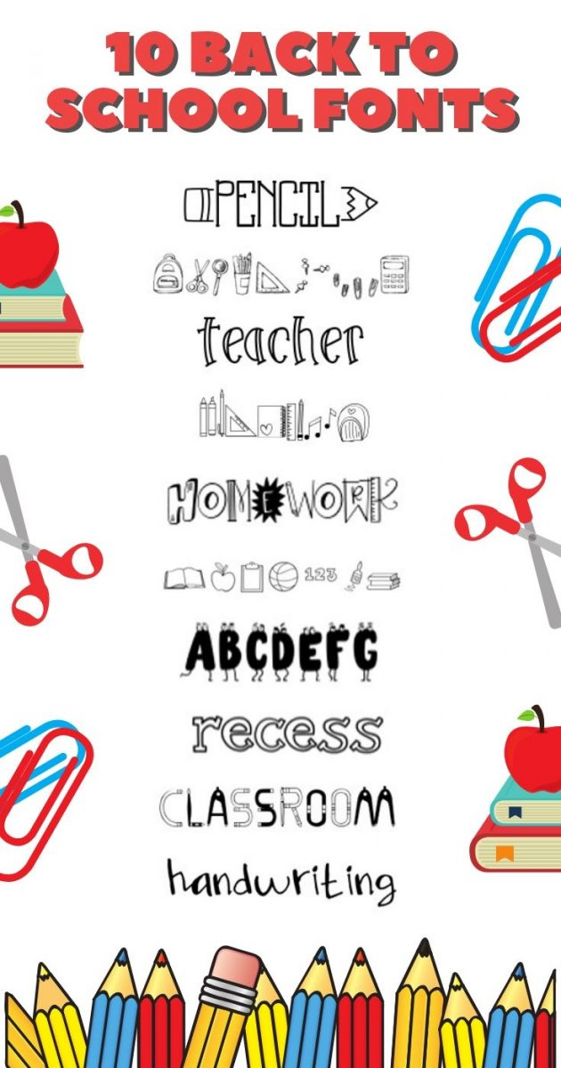10 Back to School Fonts