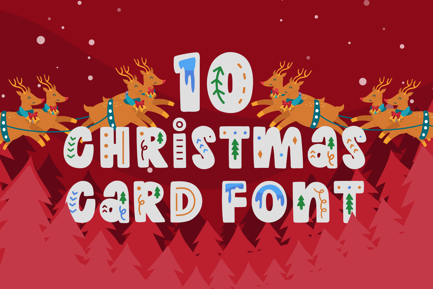 10 Christmas Card Fonts