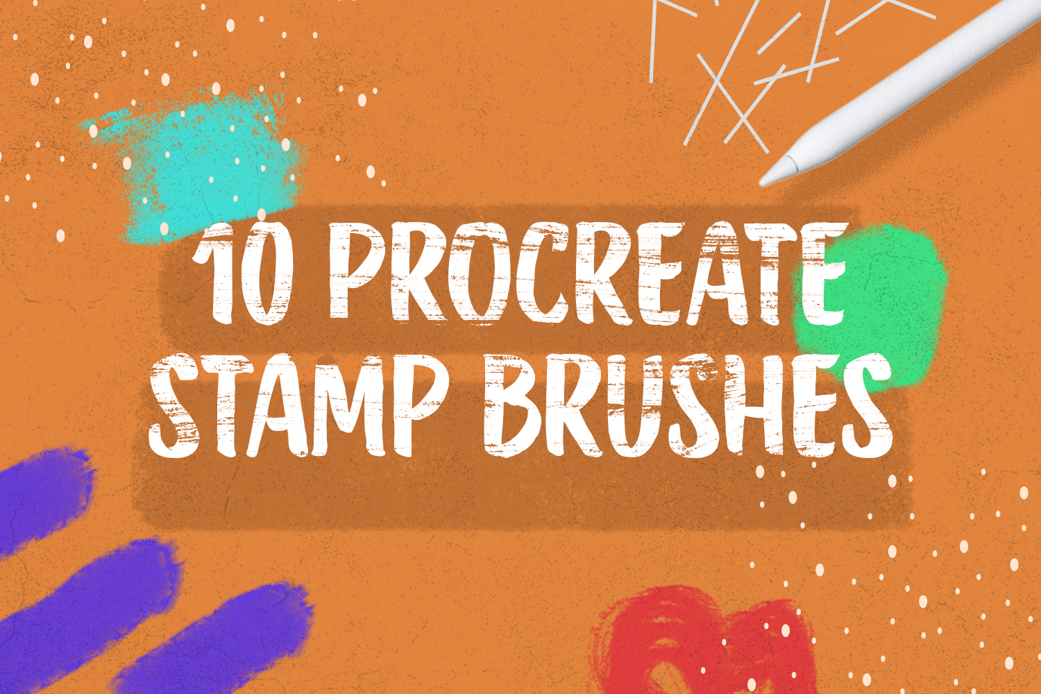 10 Procreate Stamp Brushes