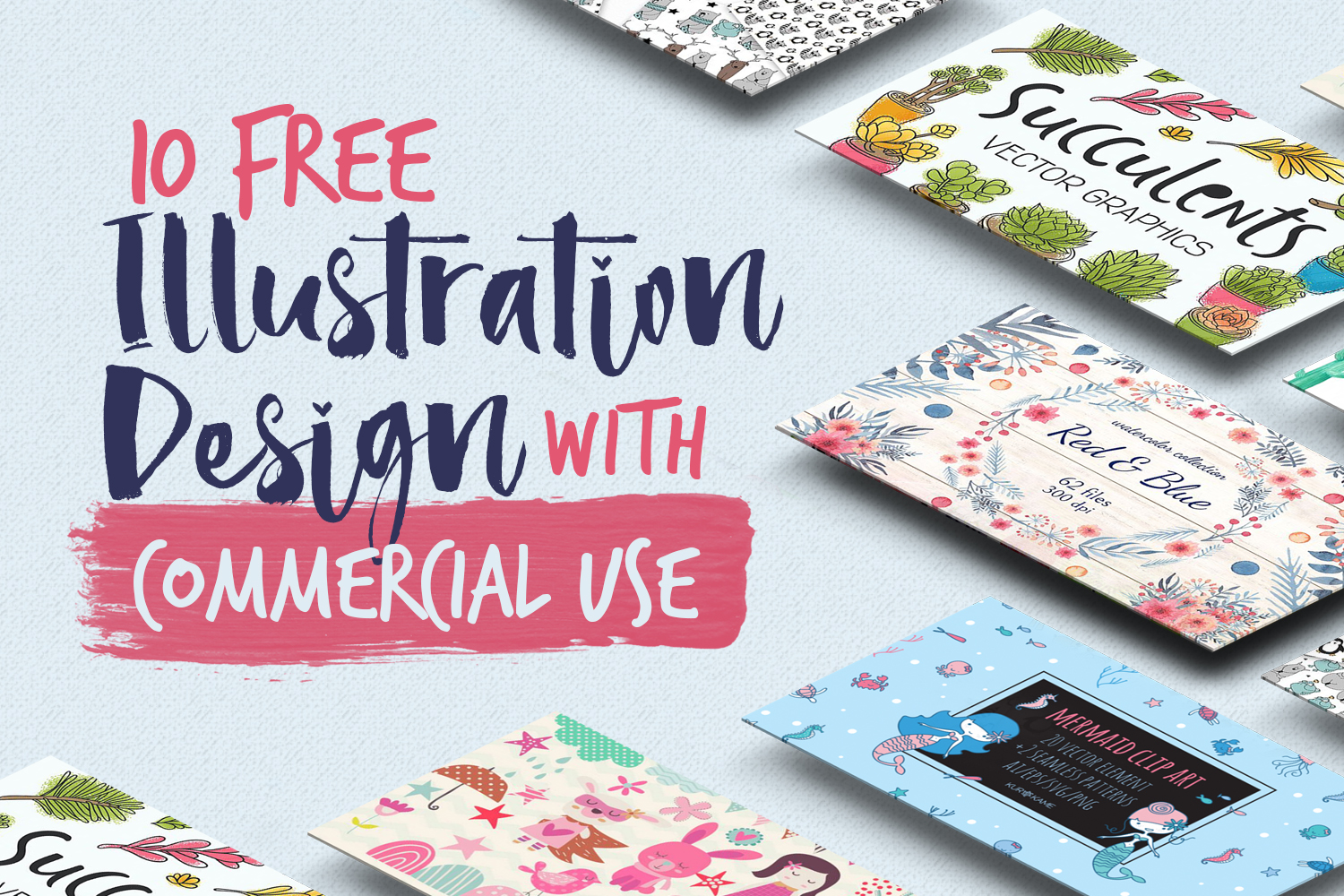 10 Free Illustration Designs with Commercial Use