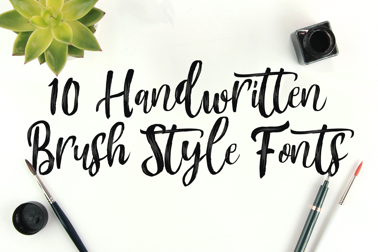 10 Handwritten Brush Style Fonts