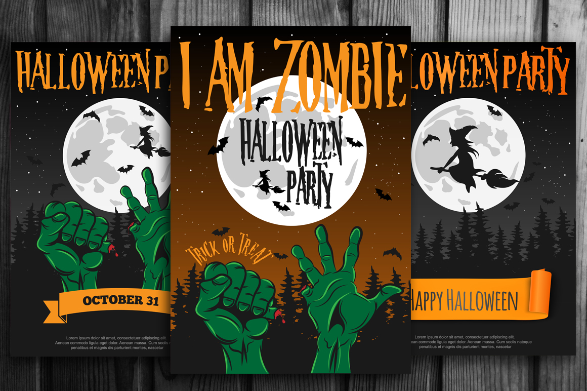 Halloween Party Poster and Invite