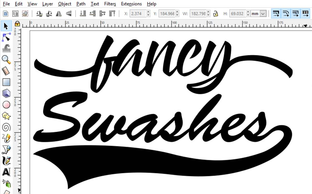 Ask a Font Creator: DIY Swashes in Inkscape | The Font