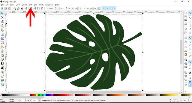 How to convert a JPEG/PNG to a Vector in Inkscape 4