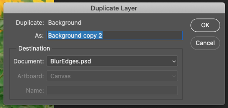 Duplicate layer settings in Photoshop