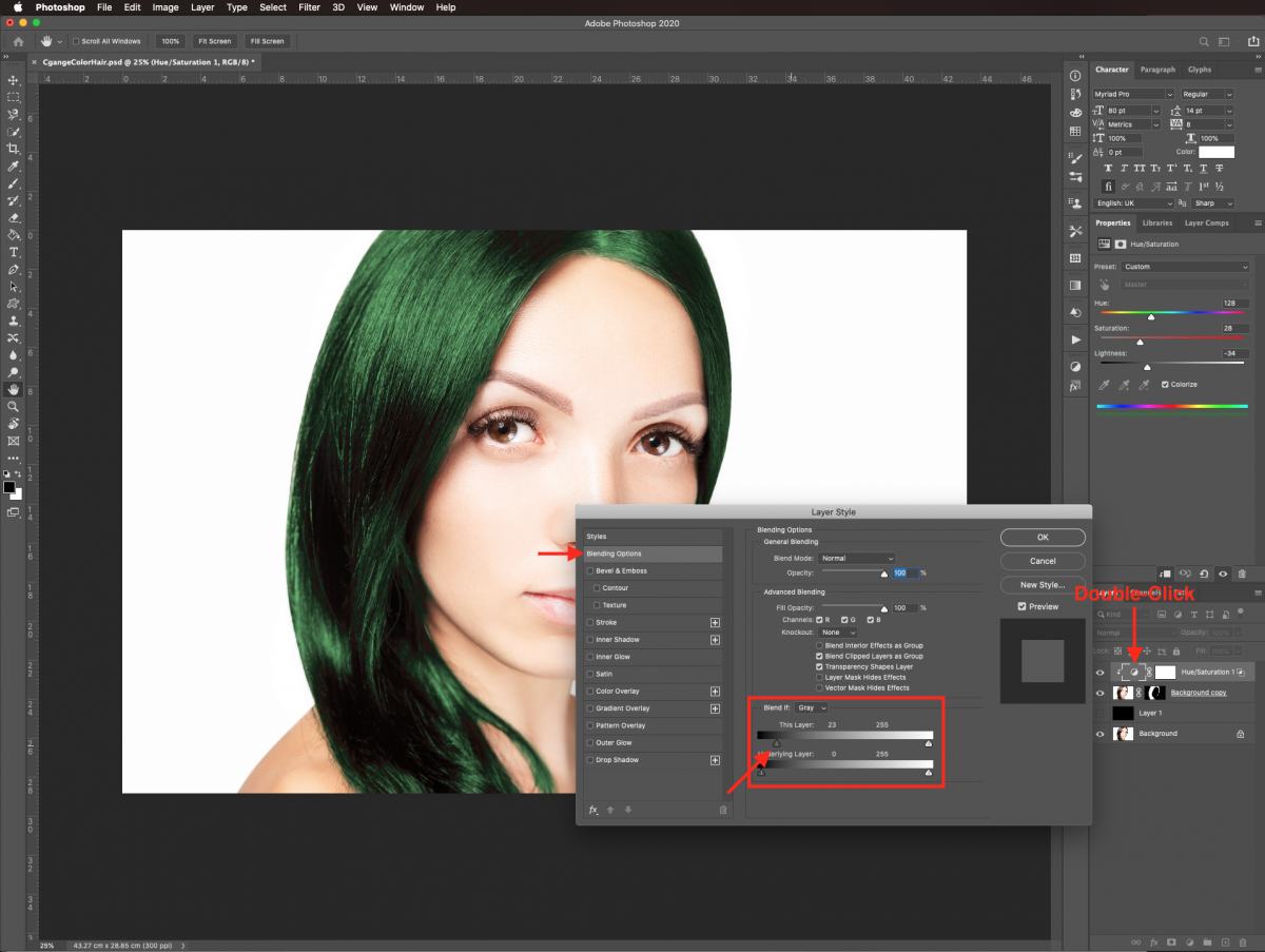 Blending options in Photoshop