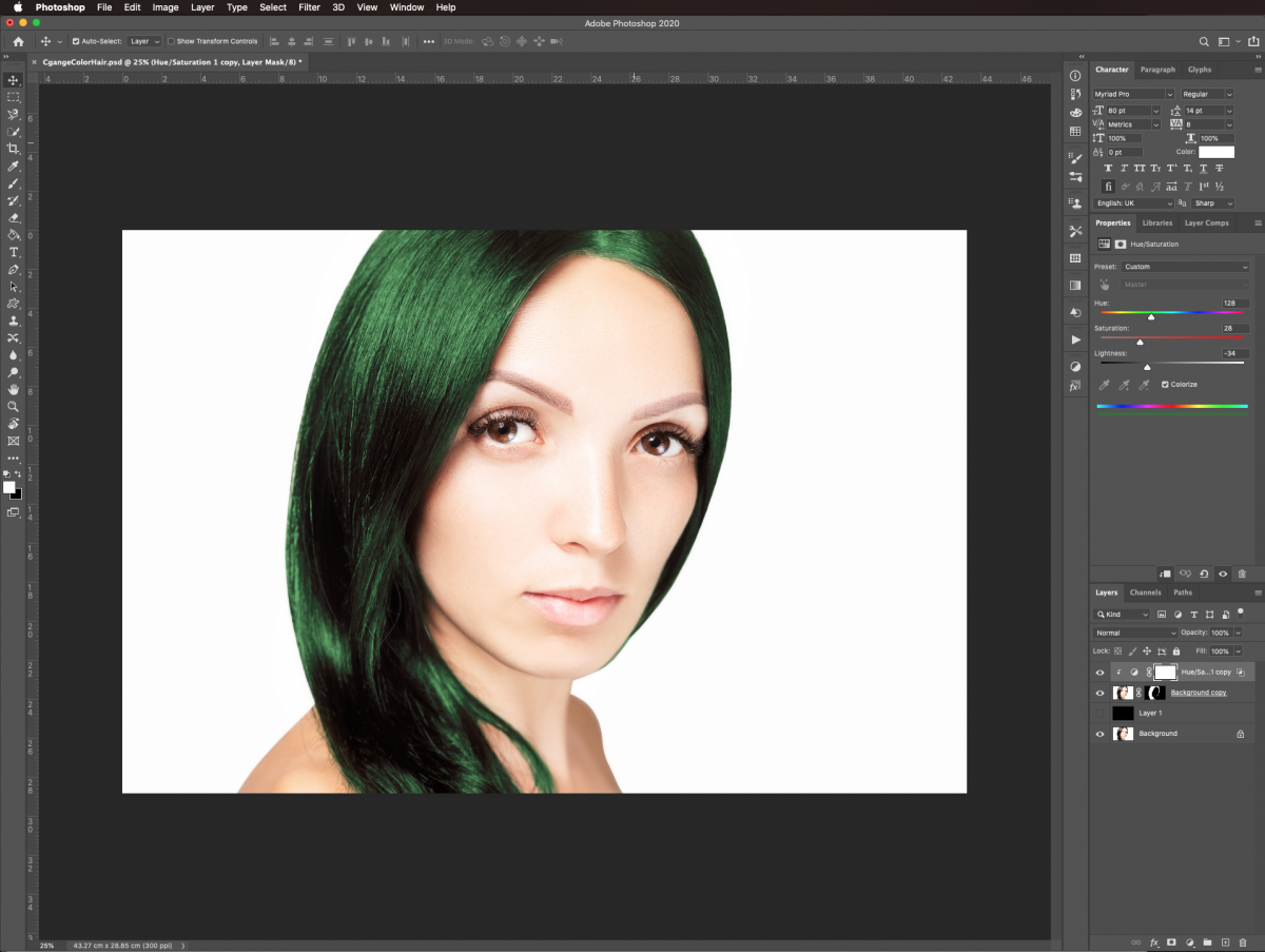Blend results in Photoshop