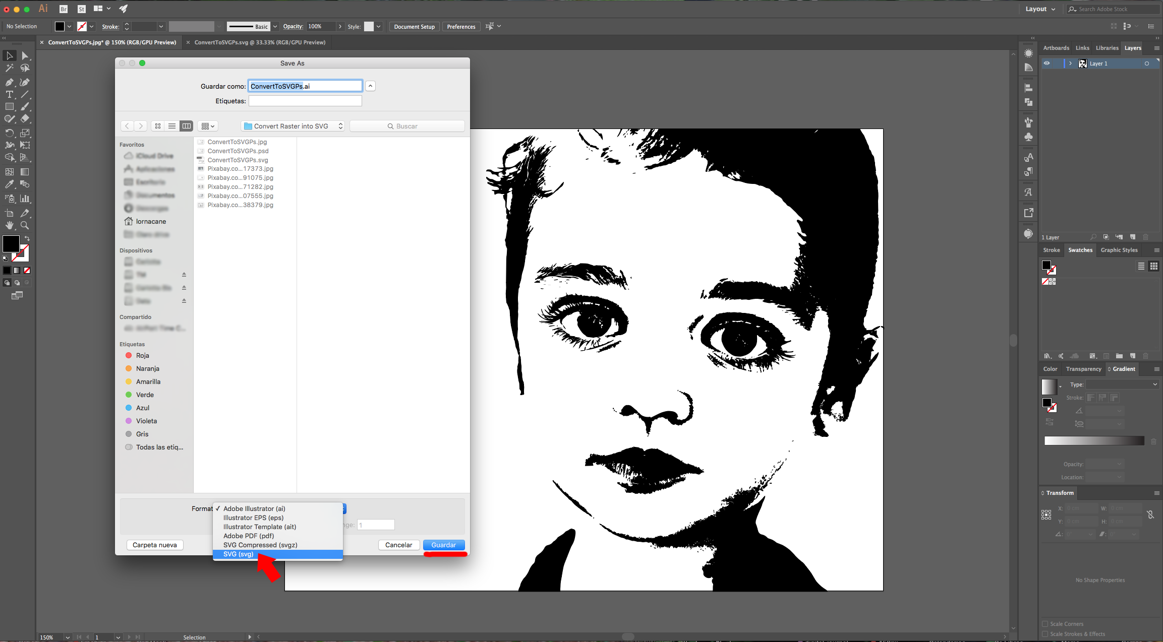 Two Ways To Convert Complex Images To Svg In Photoshop And Illustrator 2 Parts Design Bundles