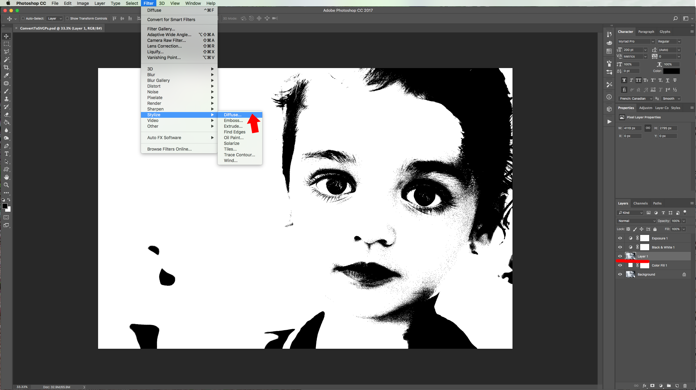 Two Ways to Convert Complex Images to SVG in Photoshop and