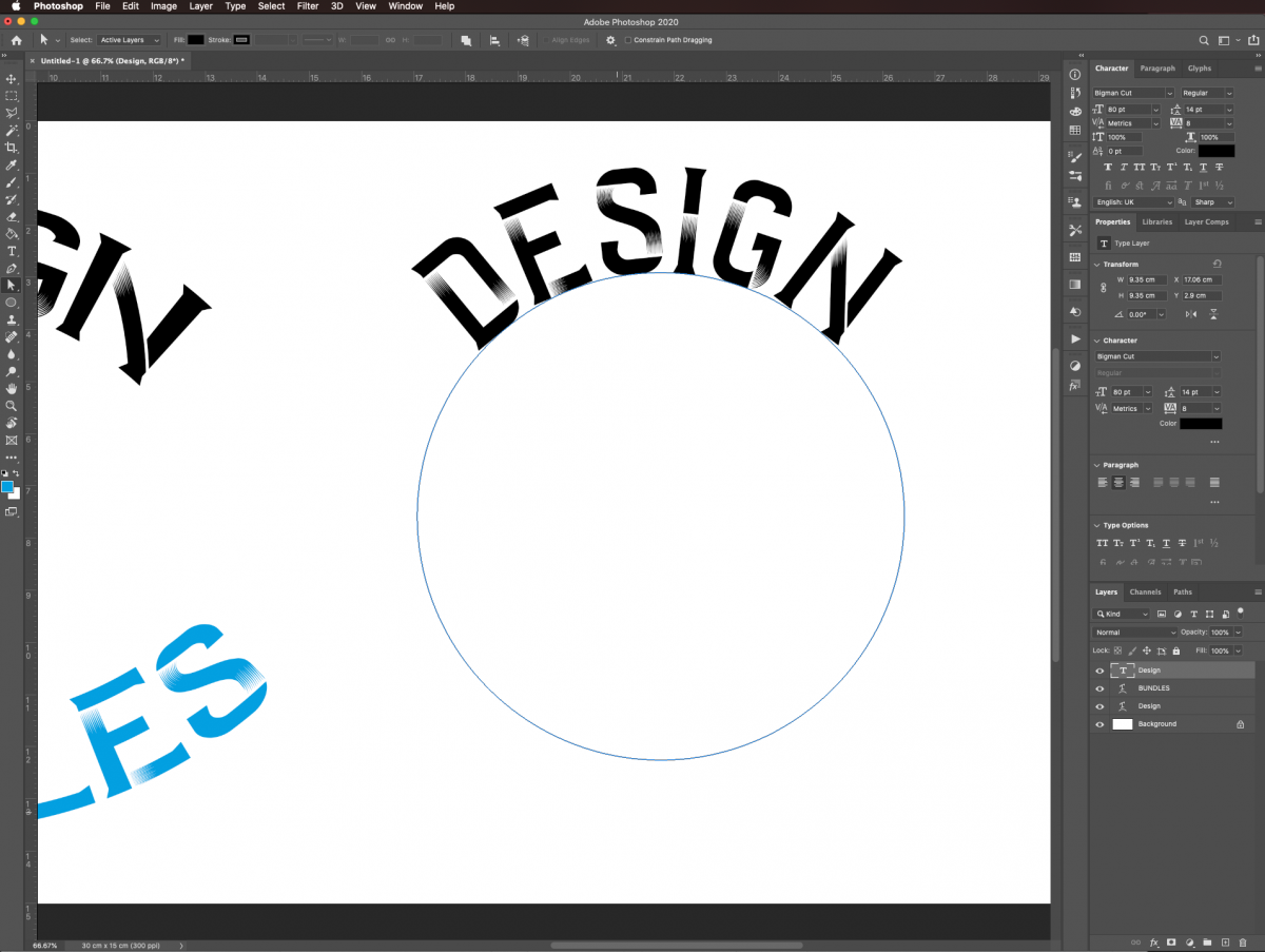 Move text in Photoshop