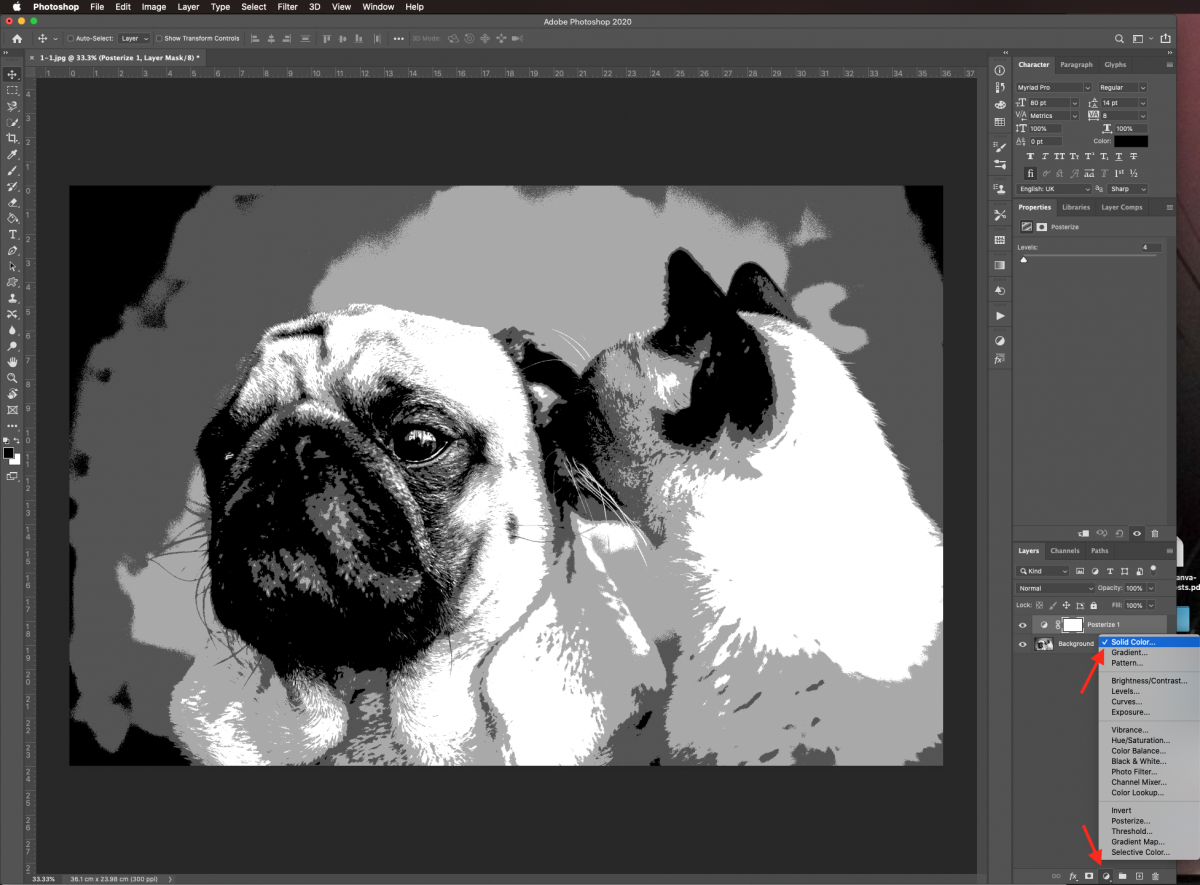 Solid color fill layer in Photoshop