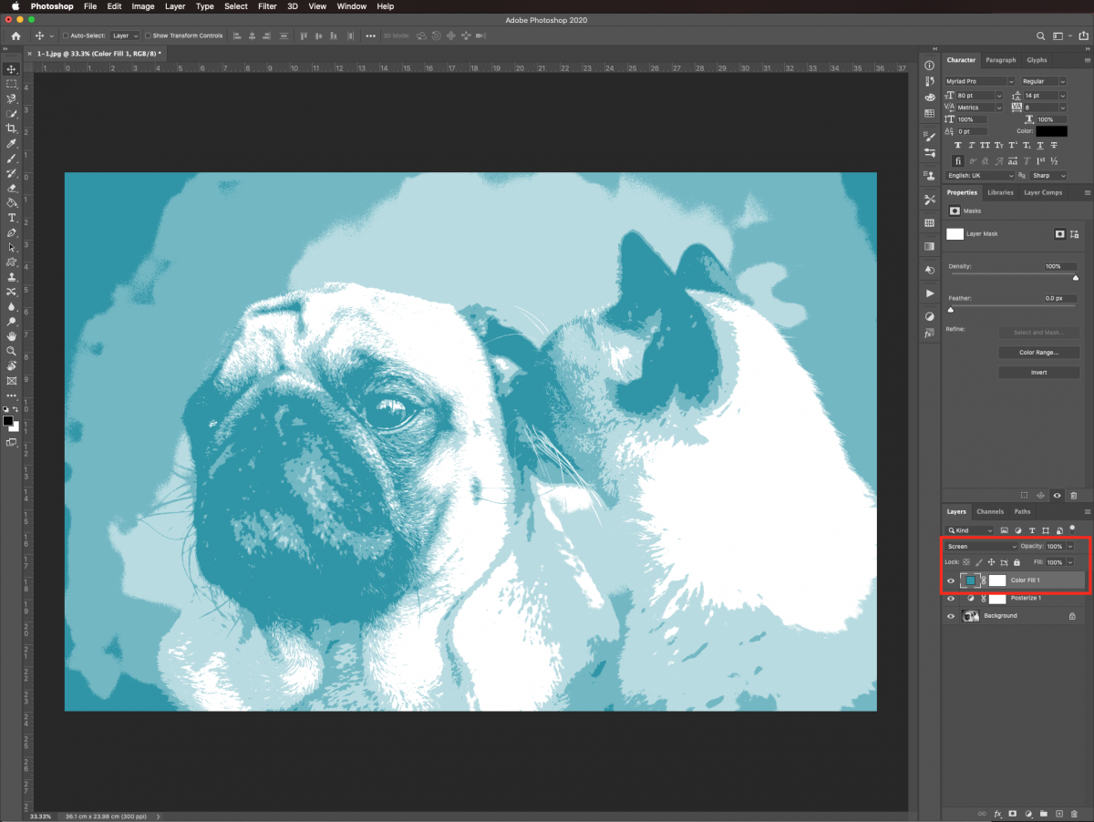 Screen in Photoshop