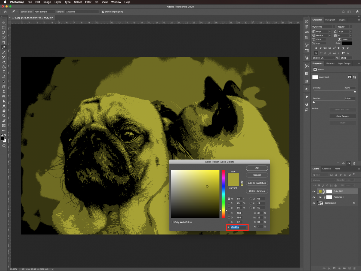 Change fill color in Photoshop