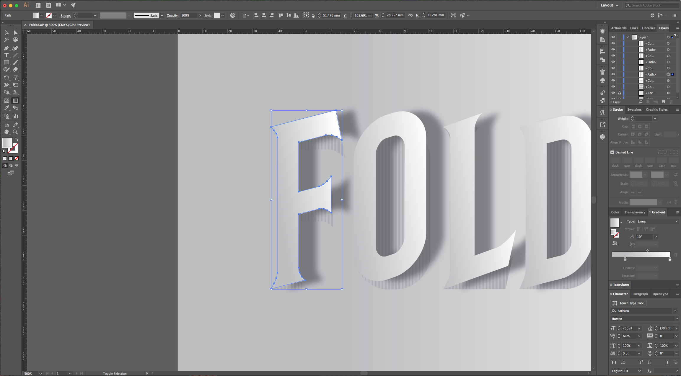 how to cut text in illustrator