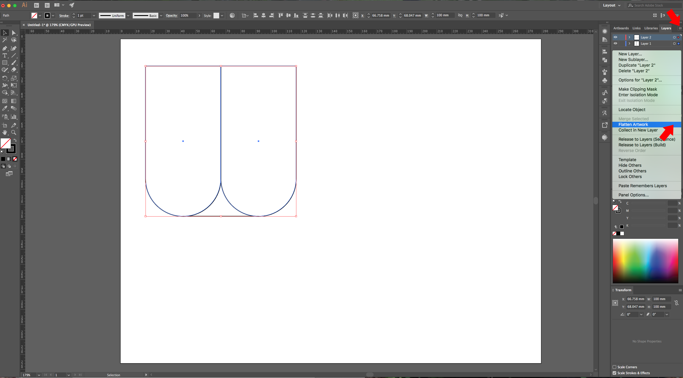 how to make fold lines in illustrator