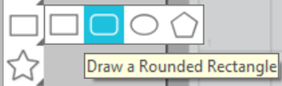 Drawing Tools Rounded Rectangle