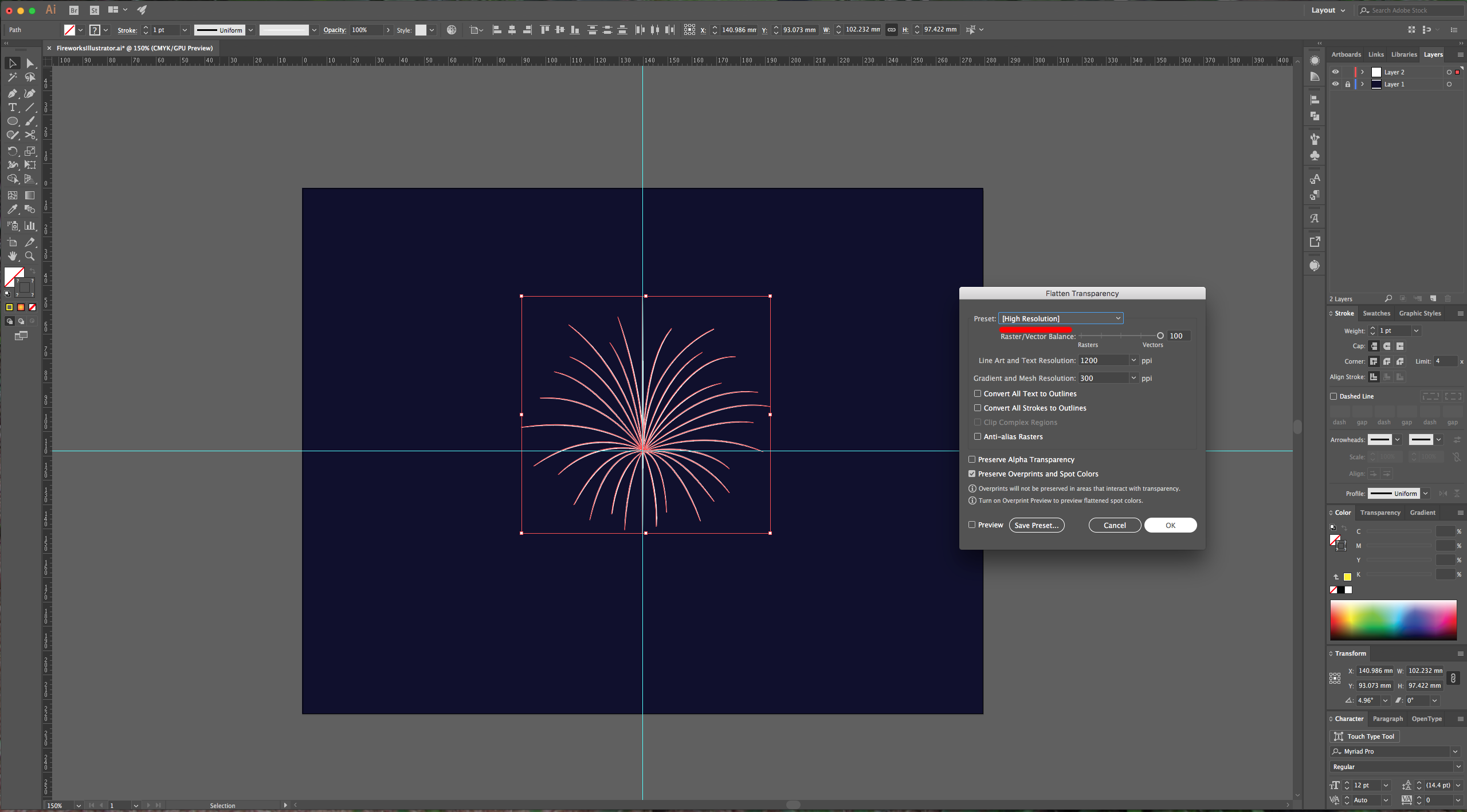 Fireworks in illustrator design bundles for Vehicle swept path templates