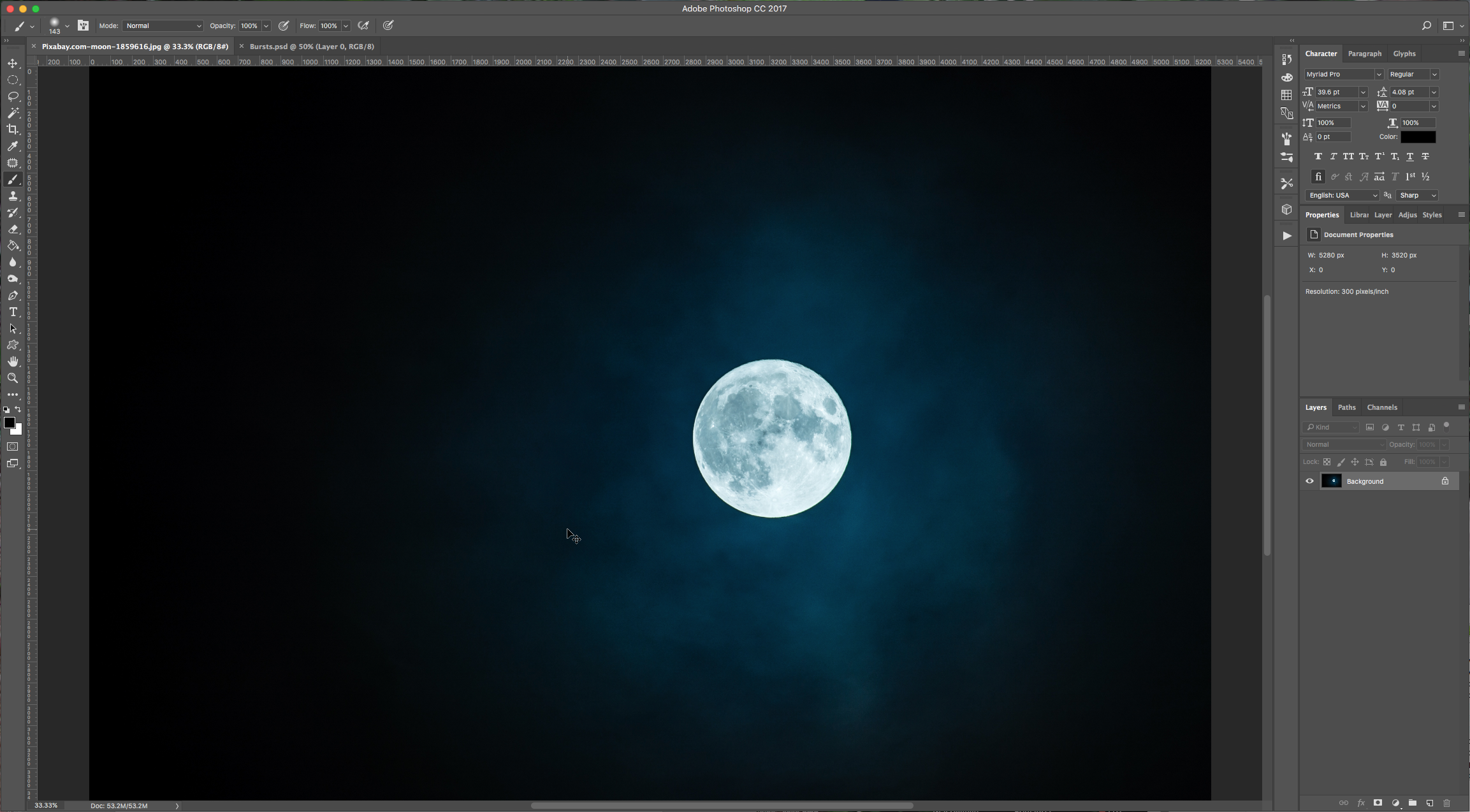 how to change background colour in photoshop under image
