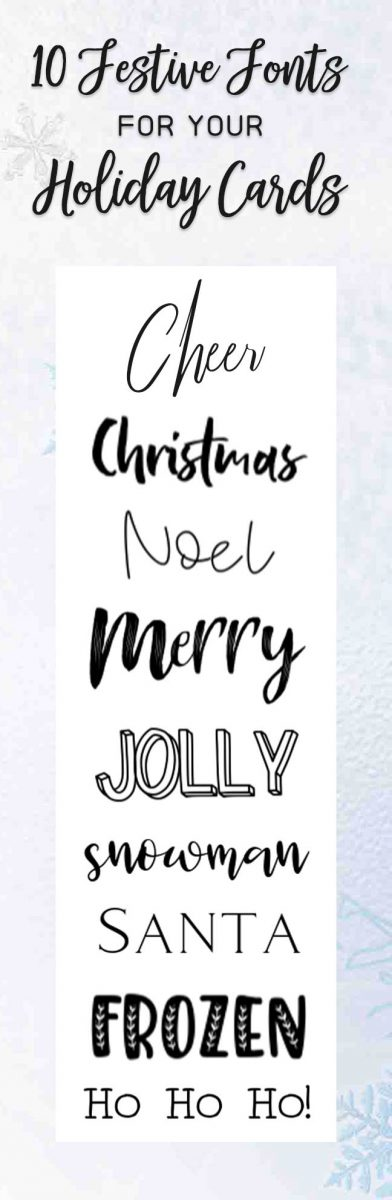 10 festive fonts for holiday cards. Fontbundles and Designed to be Crafty