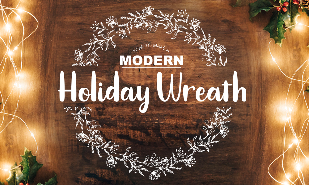 Modern Holiday Wreath