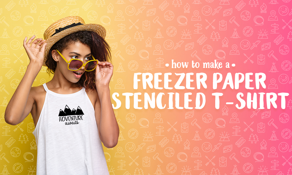 How to Make a Freezer Paper Stenciled T-Shirt