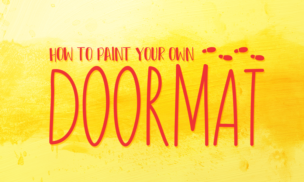 How to Paint Your Own Doormat