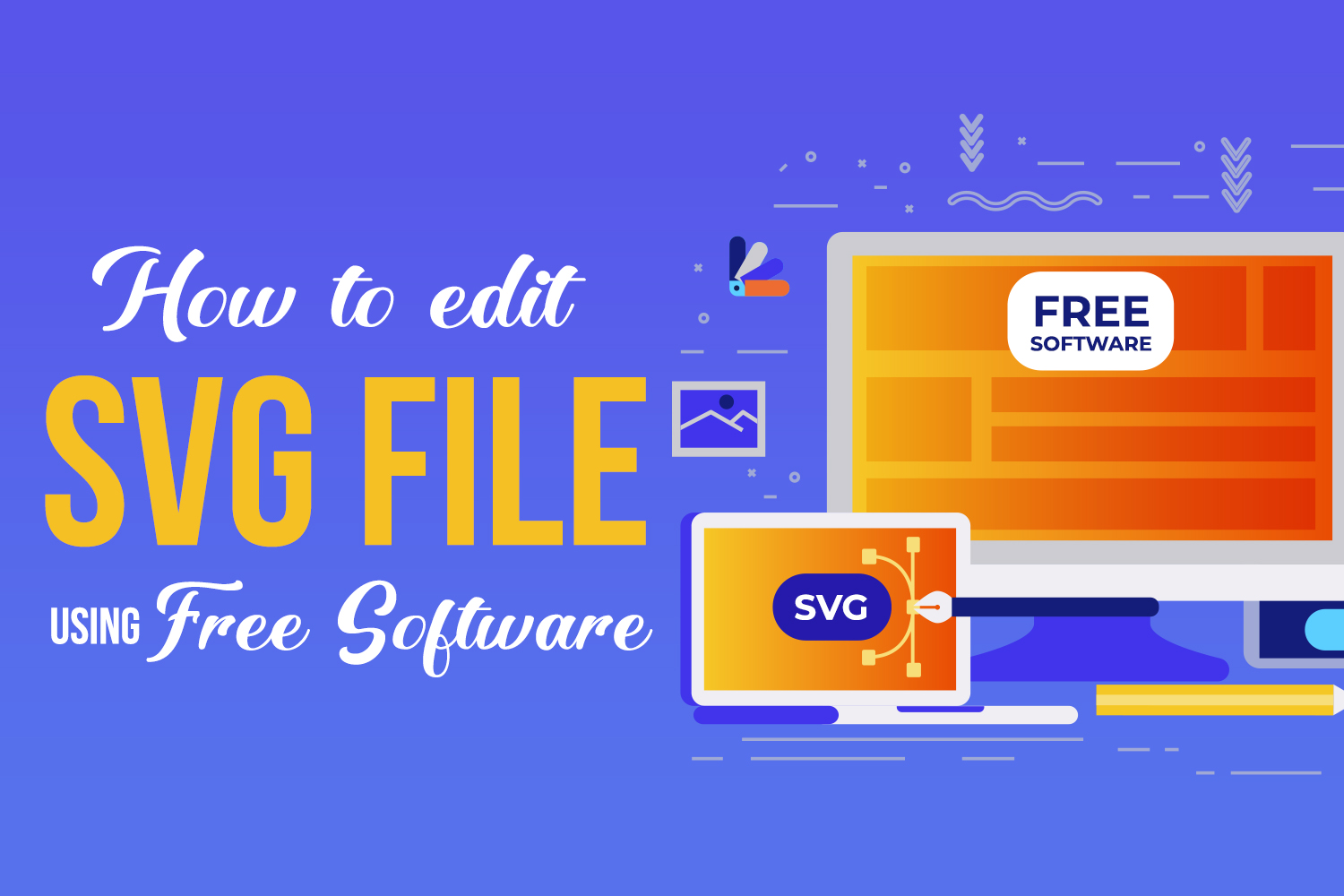 How to edit an SVG file using FREE software