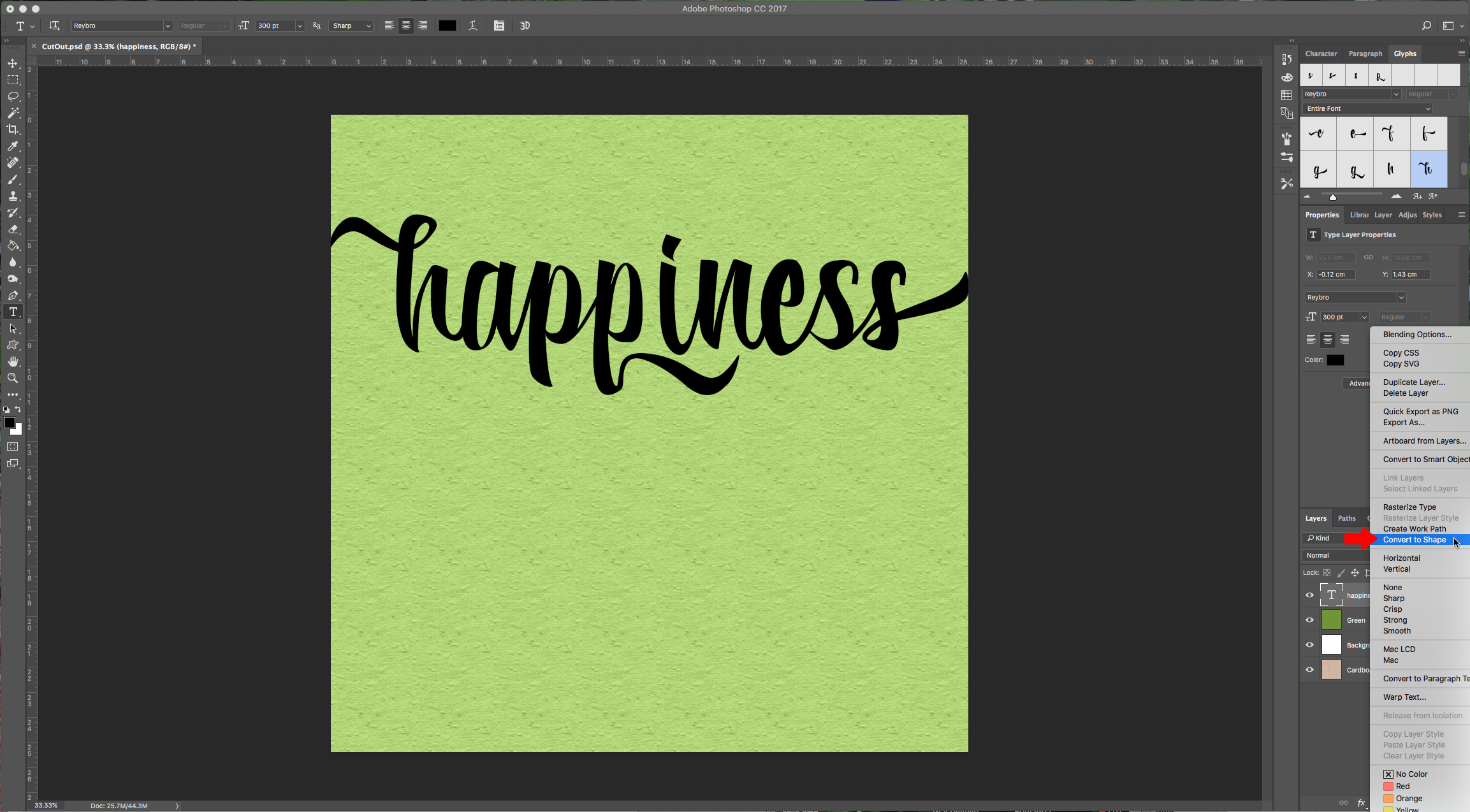 how to cut text away the image photoshop