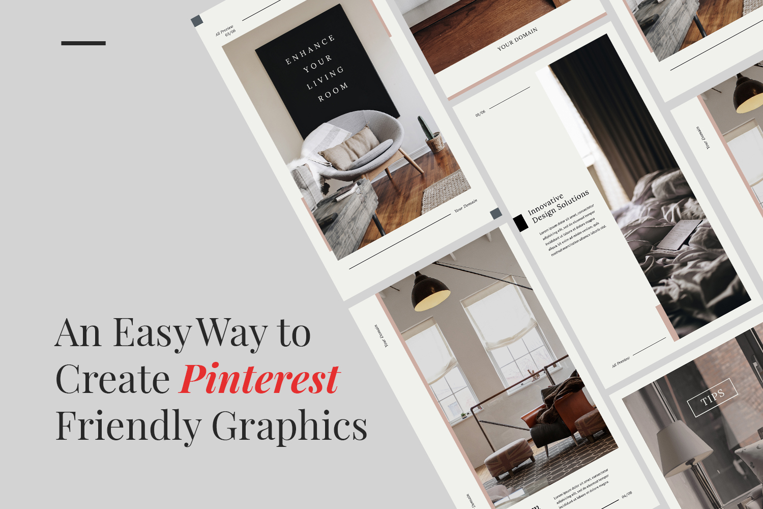 An Easy Way to Create Pinterest Friendly Graphics