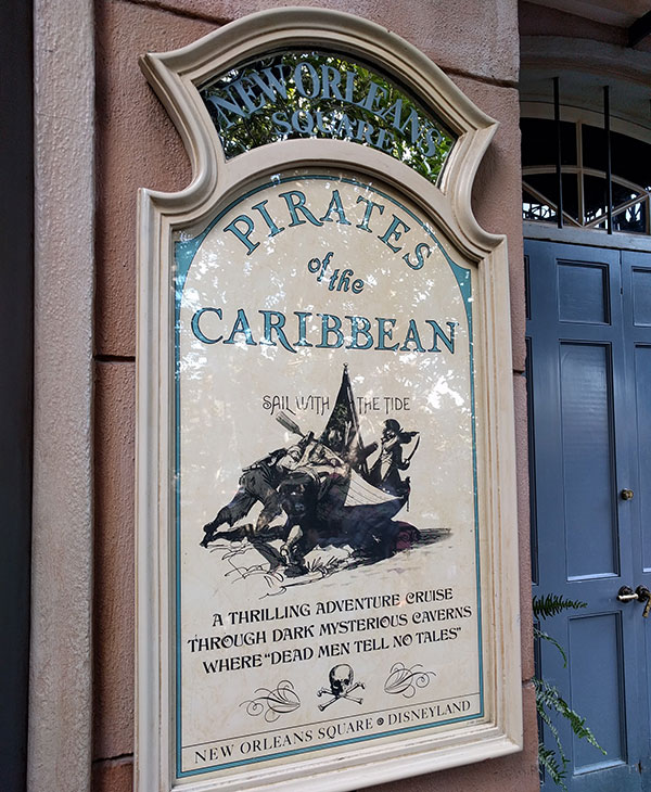 Type of Disneyland: Pirates of the Caribbean