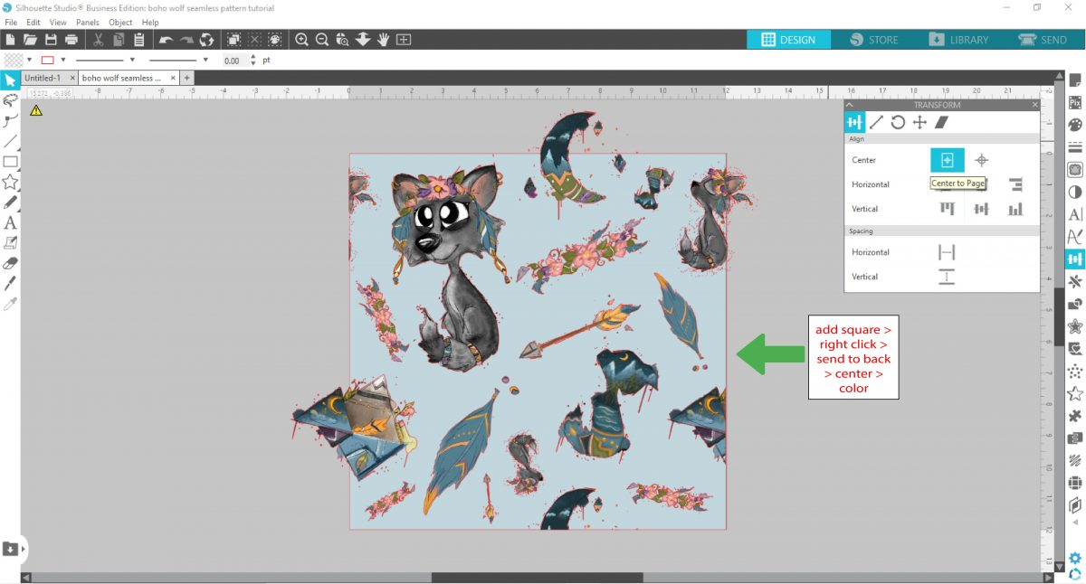 changing the background color in silhouette studio
