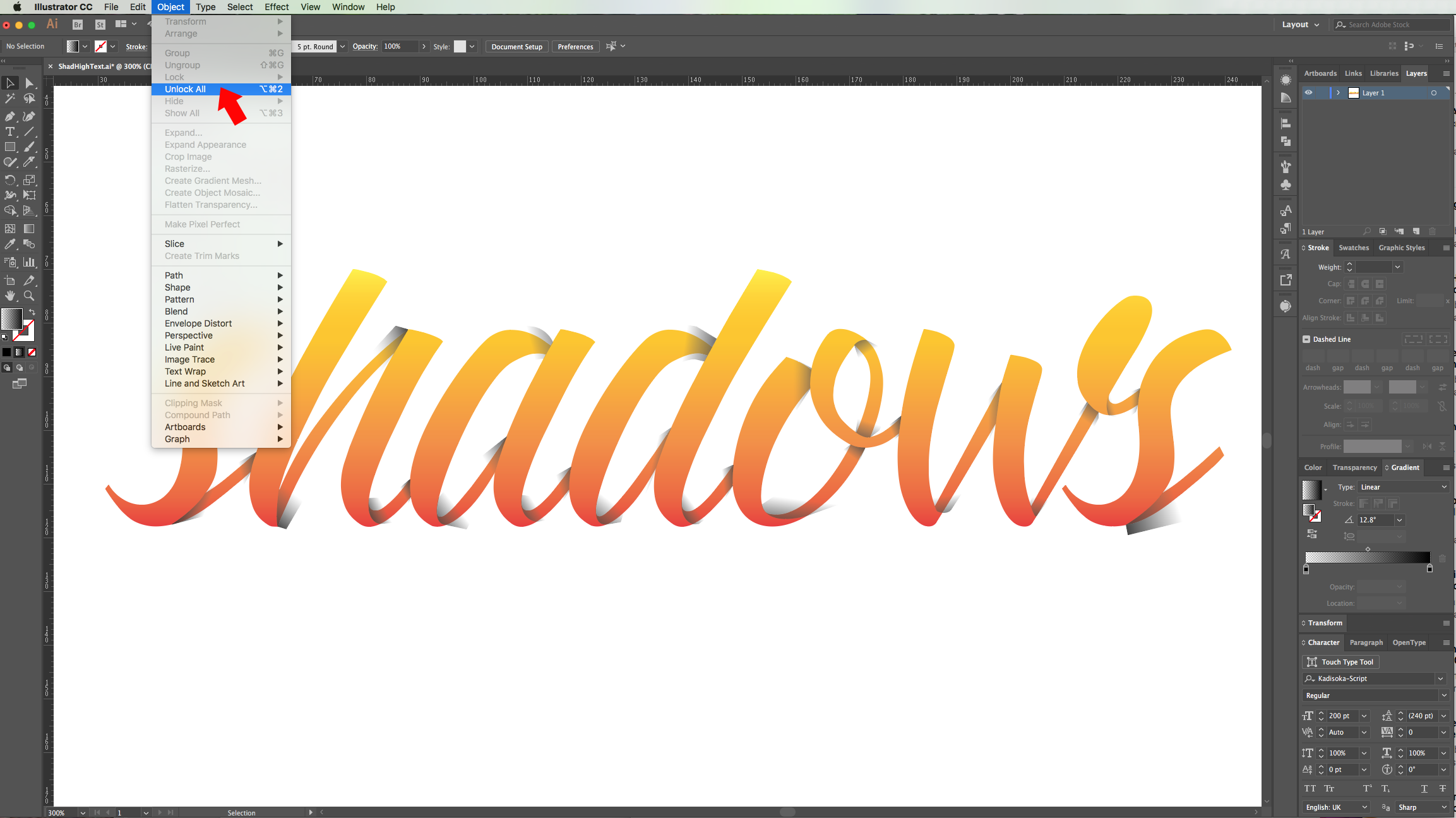 Shadows and Highlights for Text in Illustrator | Design Bundles