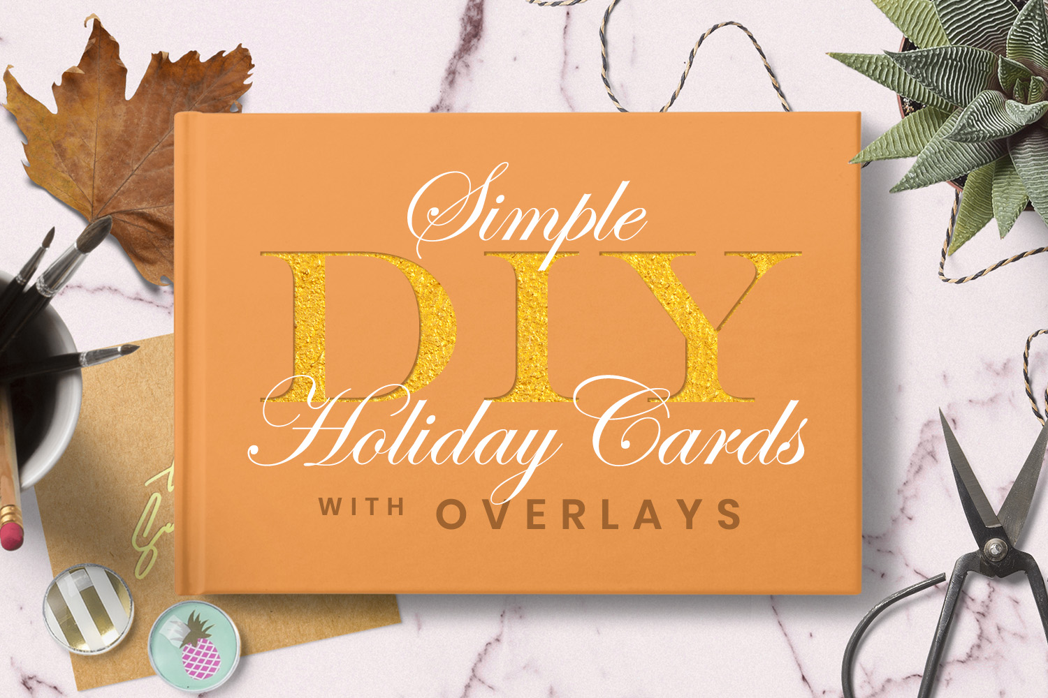 Simple DIY Holiday Cards with Overlays