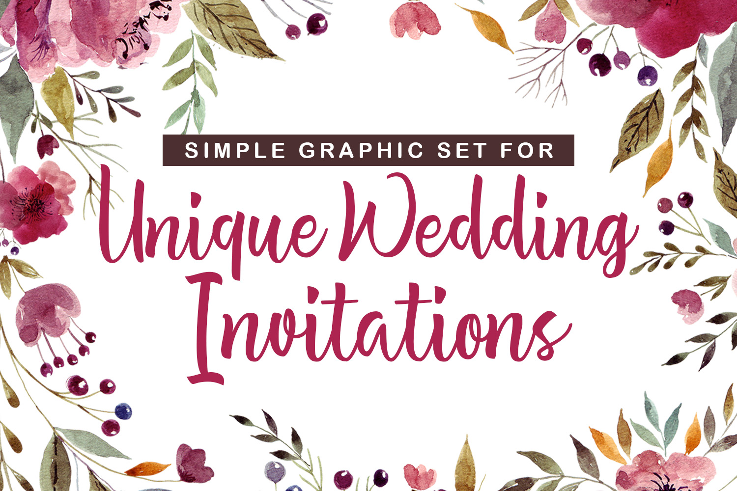 Simple Graphic Sets for Unique Wedding Invitations