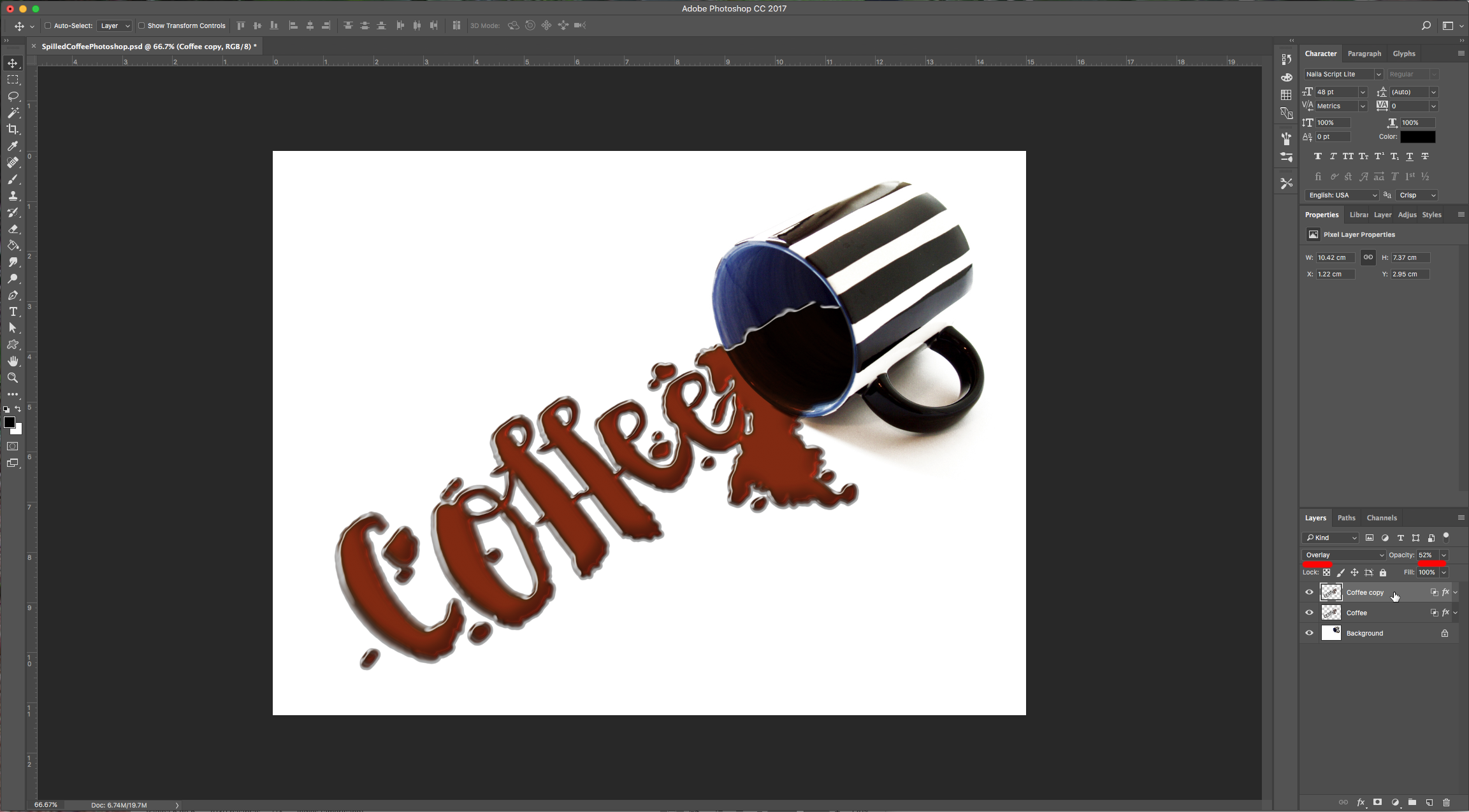 Spilled coffee text effect in photoshop design bundles with some of the settings in various steps since the lights and shadows of your image might be in different angles than the one used in this tutorial baditri Images