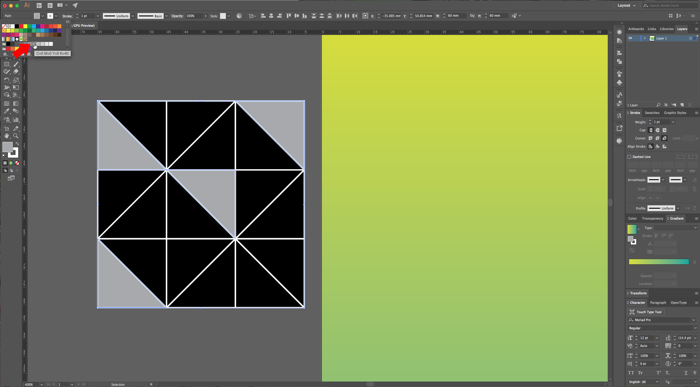 how to change the background colour in illustrator