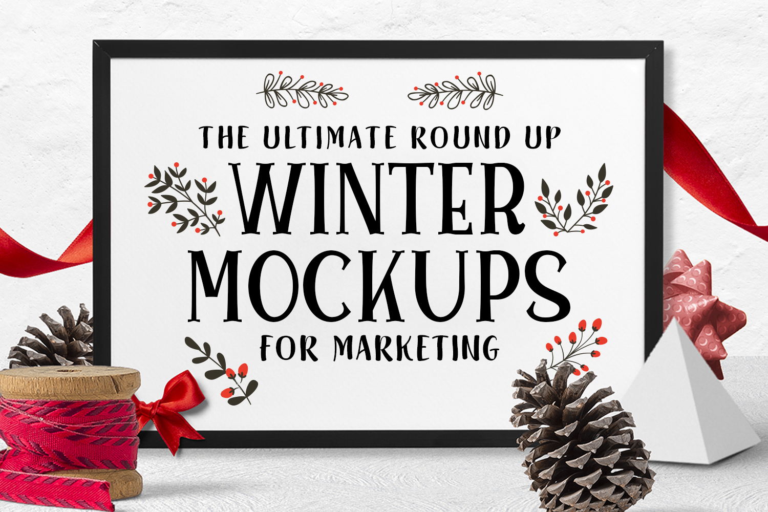 The Ultimate Round up of Winter Mockups for Marketing