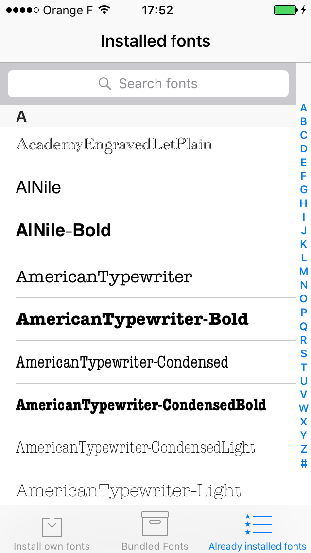 How to use Anyfont to add Fonts to an iPhone or iOS device