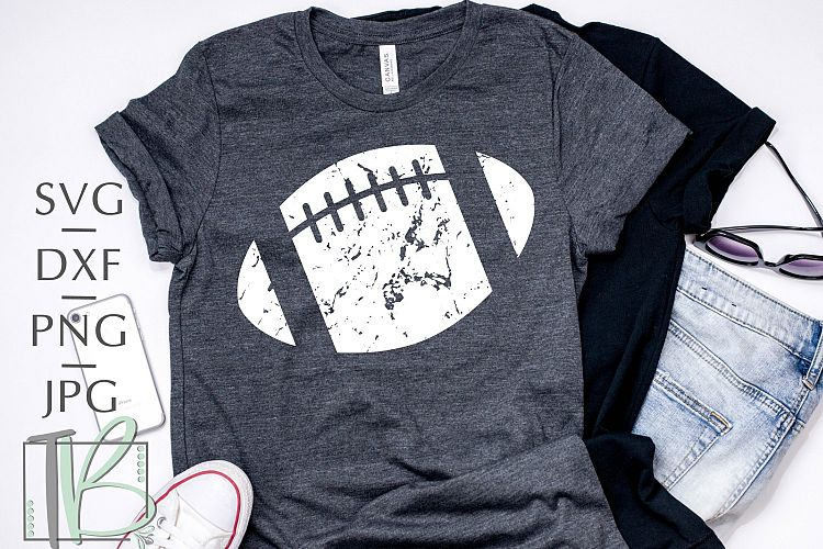 fd77f6891e6 This distressed football file is perfect for making a cute shirt to wear to  every game. Add your favorite team s name or players number to really  customize ...