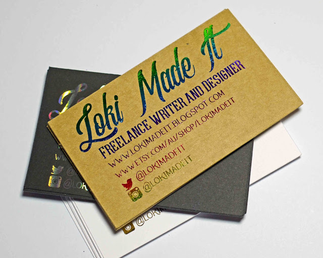 Foiled Business Card Tutorial.