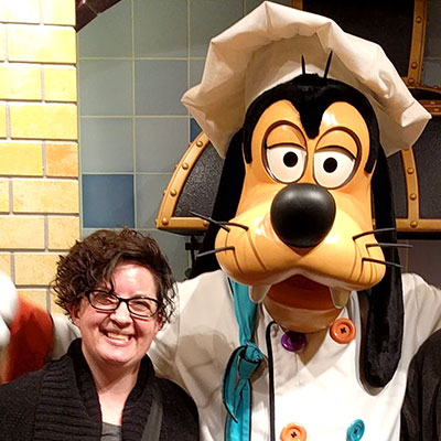 Missy and Chef Goofy